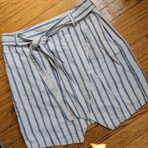 Madewell Asymmetrical Striped Skirt